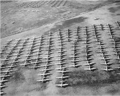 Hundreds of American B-17s stationed in preparation for D-Day