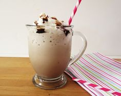 Peppermint Mocha Frappe - A creamy mint chocolate mocha. perfect for an afternoon pick me up or an after dinner dessert.