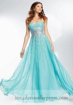 Aqua Long Sequins Mori Lee 95090 Prom Dresses 2014
