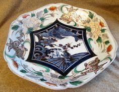 Antique Japanese Imari Signed Porcelain Dish | eBay