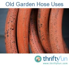 This is a guide about uses for old garden hose. Before throwing away a leaky water hose,  there are a number of ways it can be reused.