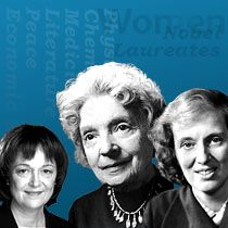 Interesting Site:  All Women who have been awarded the Nobel Prize
