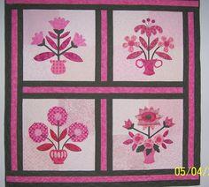 Pink ribbon applique