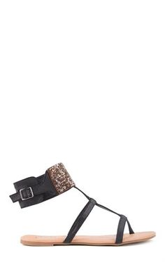 Deb Shops #Gladiator Sandals with Beaded Ankle Strap $17.43