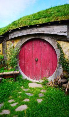 Hobbiton door - Matamata, New Zealand