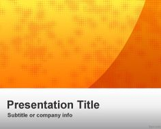 Orange Business PowerPoint Template has an orange background, it´s suitable for any topic. orang busi, orang background, powerpoint templat
