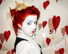 Queen of Hearts Costume Face Paint