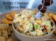 Better Cheddar Cheese Dip from The Hungry Goddess