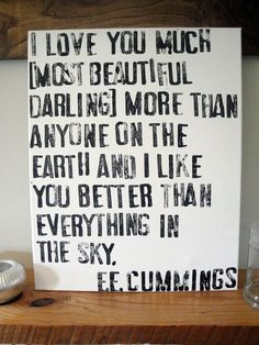 adore this quote : love this project : poem on canvas.