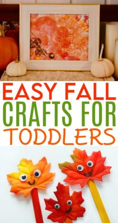We have rounded up  some really fun and easy fall crafts for toddlers and preschoolers today!  You're going to love sitting down with the kids and making some beautiful craft  projects this autumn. #diy #crafts #kidscrafts #projects #diycrafts #diyprojects #fundiys  #funprojects #diyideas #craftprojects #diyprojectidea