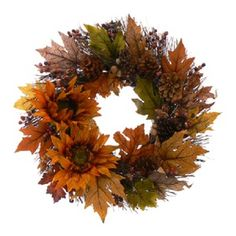Sunflower Melody Fall Door Wreath