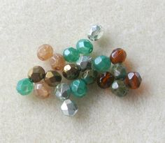 Czech Fire Polish Round Glass Beads by CatsBeadKitsandMore on Etsy, $3.89