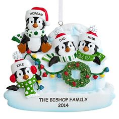Penguin Igloo Family Ornament | Personal Creations - I think this will be our family ornament for 2014! So cute!