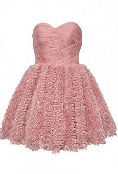 Ruched Panel Ruffle Dress by OPULENCE ENGLAND £29   @girlmeetsdress