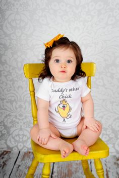 Daddy's Other Chick - Funny Baby Onesie or Tee by ShopTheIttyBitty, $18.00