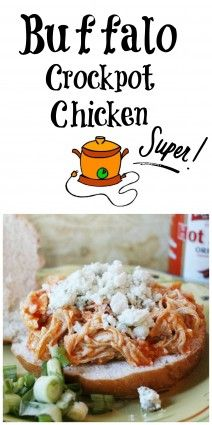 #Buffalochicken in the crockpot. So easy, and delish your family will love it.
