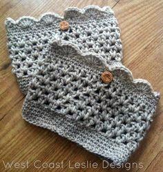 free crochet patterns - cute boot cuffs too