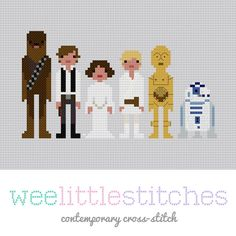 Kitschy Digitals :: Sewing & Needlework Patterns :: Star Wars - A New Hope - Cross-Stitch Pattern