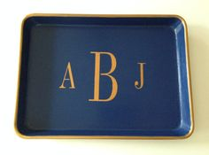 Spoil a special someone with a custom monogrammed tray. #etsygifts