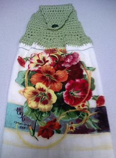 Crocheted Hand towel topper