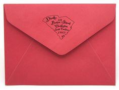 Personalized State Return Address Stamp on BourbonandBoots.com #southcarolina