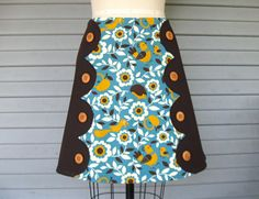 Cold Comfort Farm scalloped skirt Sz 10 by LoveToLoveYou on Etsy