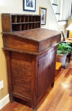Vintage chestnut slant top standing desk with by QuiddityWay, $550.00 #standingdesk
