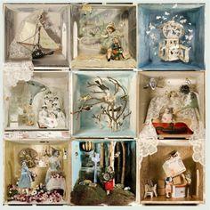 collage diorama