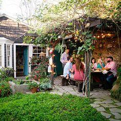 backyard ideas, backyard vision, back patio, backyard patio, arbor, outdoor patios, backyard parties, outdoor parties, stone patios