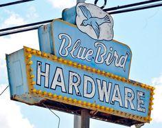 Retro Bluebird Sign
