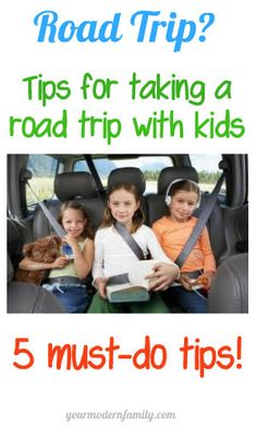 Tips for taking a road trip with kids