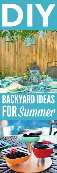 Check out these great DIY Backyard Ideas for  Summer. They're perfect to bring life back into your drab yard. #homedecor #diyhomedecor #diyhomedecorideas  #homedecorideas #diyhomedecorprojects #homedecorprojects #homedecordiy  #doityourselfhomedecor #easyhomedecorideas #funhomedecorideas #backyardprojects  #outdoordecor