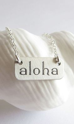 Aloha Necklace sterling silver beach necklace