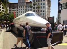 The Rodeo Drive Concours d'Elegance 2013 celebrated the 50th anniversary of LearJet. Guests got to see a plane fuselage, parked right on Rodeo Drive!
