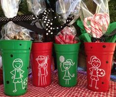 Me and My Peeps Auto Decals used to personalize cups - what a great idea for any time of the year