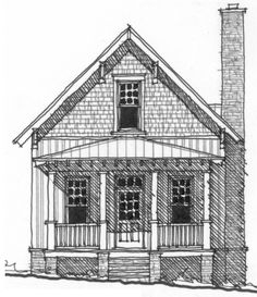 Allison Ramsey Architects   Floorplan for The High Hickory Cabin - 710 sqaure foot house plan # NC0021