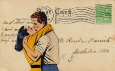 Sealed With a Kiss by Dadadreams on flickr #collage #postcard