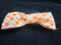 Peach diamond bow tie