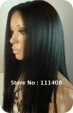 """8""""-24"""" All Length Stocks 100% Human Hair Indian Remy Full Lace Wigs baby hair Loose YAKI Straight Natural Black can be dyed HOT! on AliExpress.com. 5% off $ 106.40"""