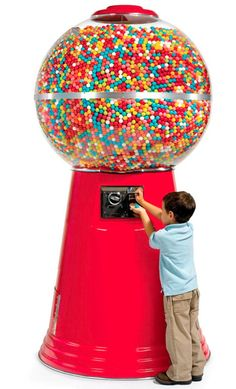 A giant candy dispenser !