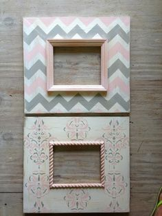 Delta Girl Distressed Frames. pink and grey nursery