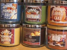 Bath Body Works Fall 2013 Test Candles