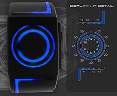 Tron inspired LED Watch. $139.00