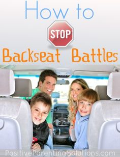 Are you faced with constant fighting and bickering in the back seat of your car? Tips and trick on how to stop the backseat battle!
