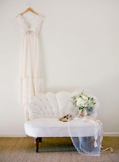 Vintage items can be chic, not kitschy if used in the right scenarios. This couch would be great to use in a reception site.