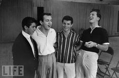 Paul Anka, Bobbie Darrin, Frankie Avalon and Pat Boone