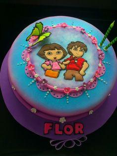Torta de Dora y Diego