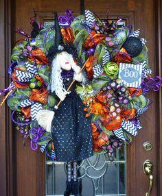 30 Deco Mesh SASSY WITCH with ATTITUDE Halloween by decoglitz