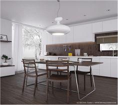 Home-interior : Modern White And Dark Brown Wooden Kitchen Design Ideas ~ pickulove