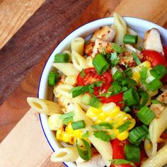 Enjoy this fiesta in a bowl, Southwest Grilled Chicken and Corn Pasta Salad.